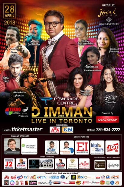 D Imman Live in Toronto 2018